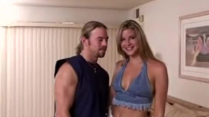 Kristall Rush and Erik Everhard are wrestling their way into a lingerie washing machine and a bedroom