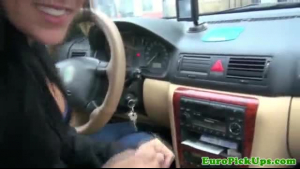 Oriental taxi driver sucking and riding